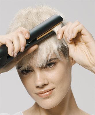 Structured Rawness strands are treated with straighteners.